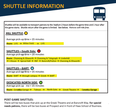 Shuttle Details and Routes