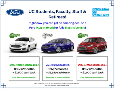 UC Campus Buy Vehicle Flyer for Ford Cars