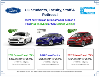 UC Campus Lease Flyer for Ford Vehicles